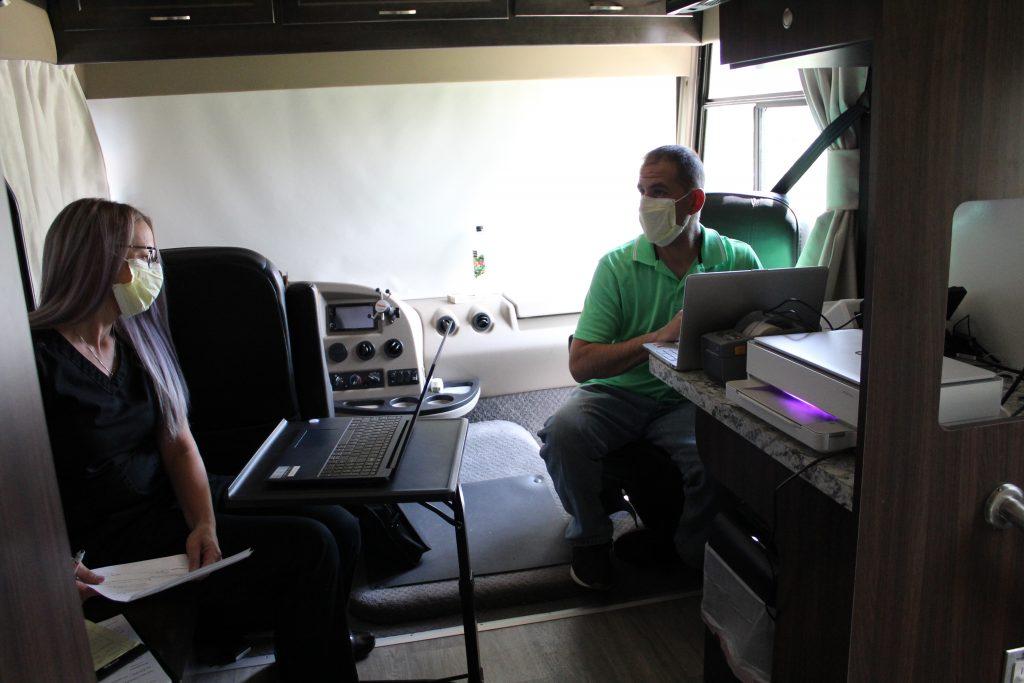 Inside mobile health unit
