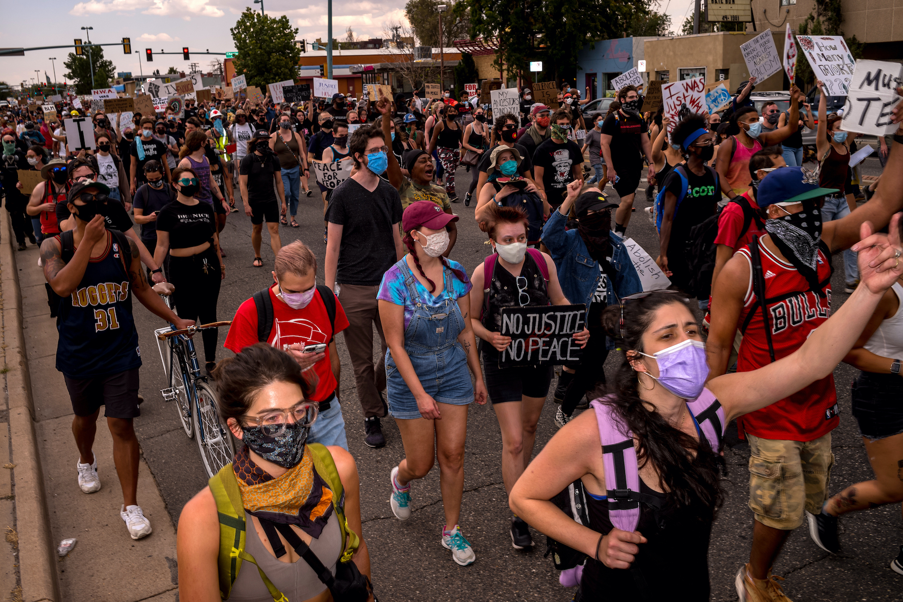 Summer of racial reckoning: Hundreds march to condemn police violence and racism