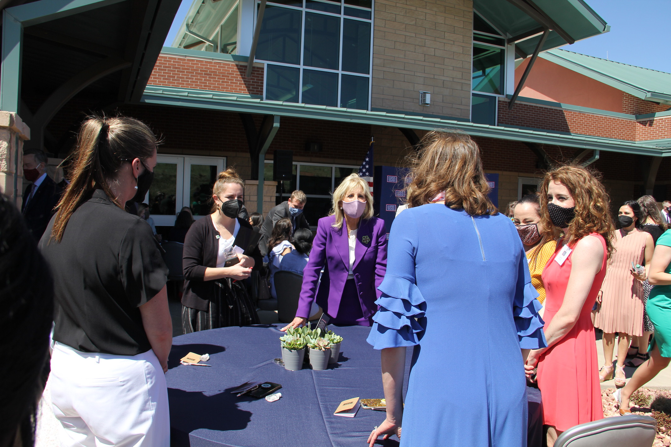 First Lady Jill Biden visits Fort Carson, touts program for military spouses