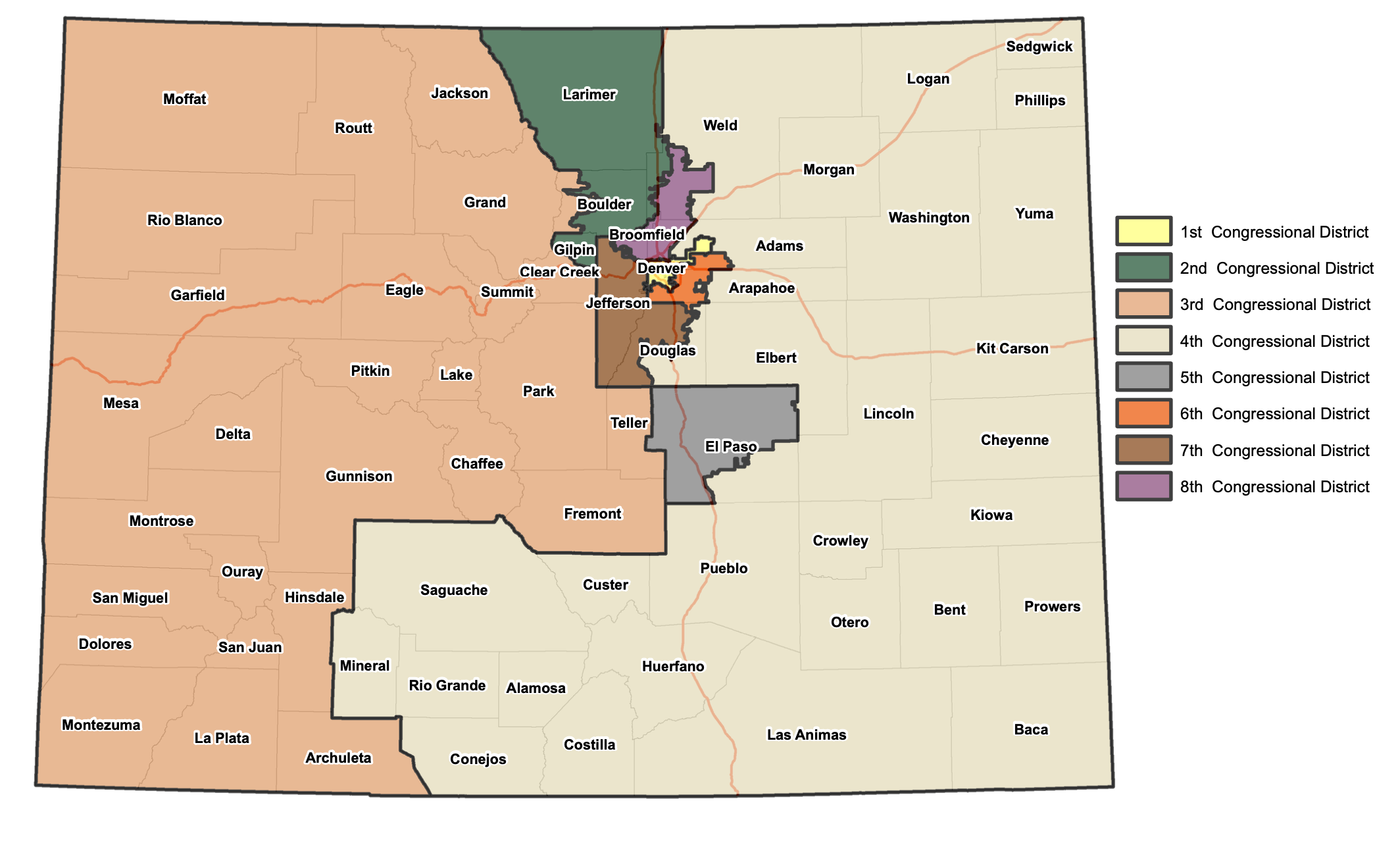Preliminary congressional map released by Colorado redistricting commission