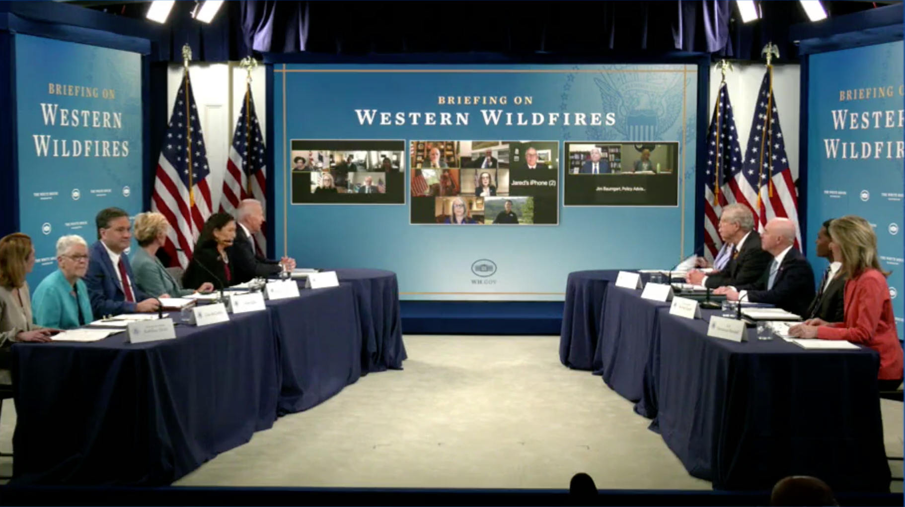 Biden, Western governors plan for 'severe' wildfire season in White House briefing