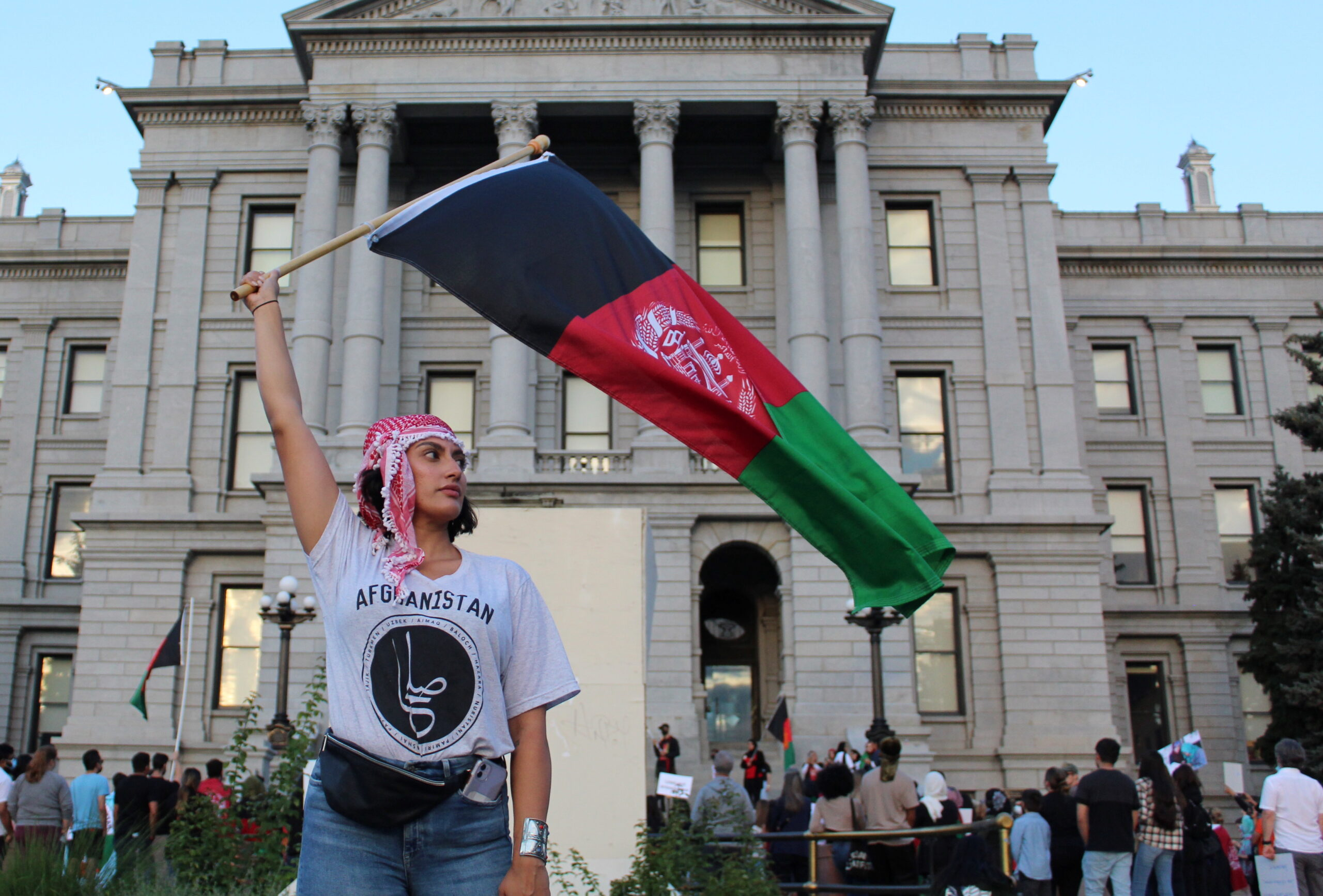 Afghan Americans rally in Denver for friends, family stuck in Afghanistan